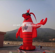 Giant Advertising Inflatable Shrimp Cartoon Inflatable Replica Langouste advertising material
