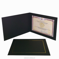 black a4 diploma certificate holder or 8x12 photo folder in horizontal
