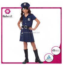 Hot sale children Auxiliary Police costume fancy girl's cosplay dress