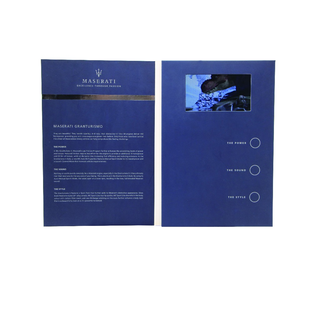 4.3 Inches Video Brochure LCD Promotional Advertising Wedding Invitation Card