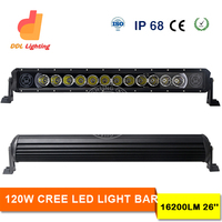 Hot -sale 26 inch led light bar offroad light bar straight, multi background color optional IP67 Crees 120w led light bar