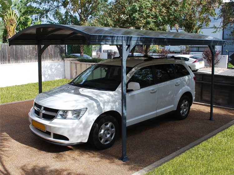 Outdoor car parking awnings blue polycarbonate carport