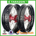 Tarazon brand spoke wheels dirt bike CNC 17'' wheel for honda CRF