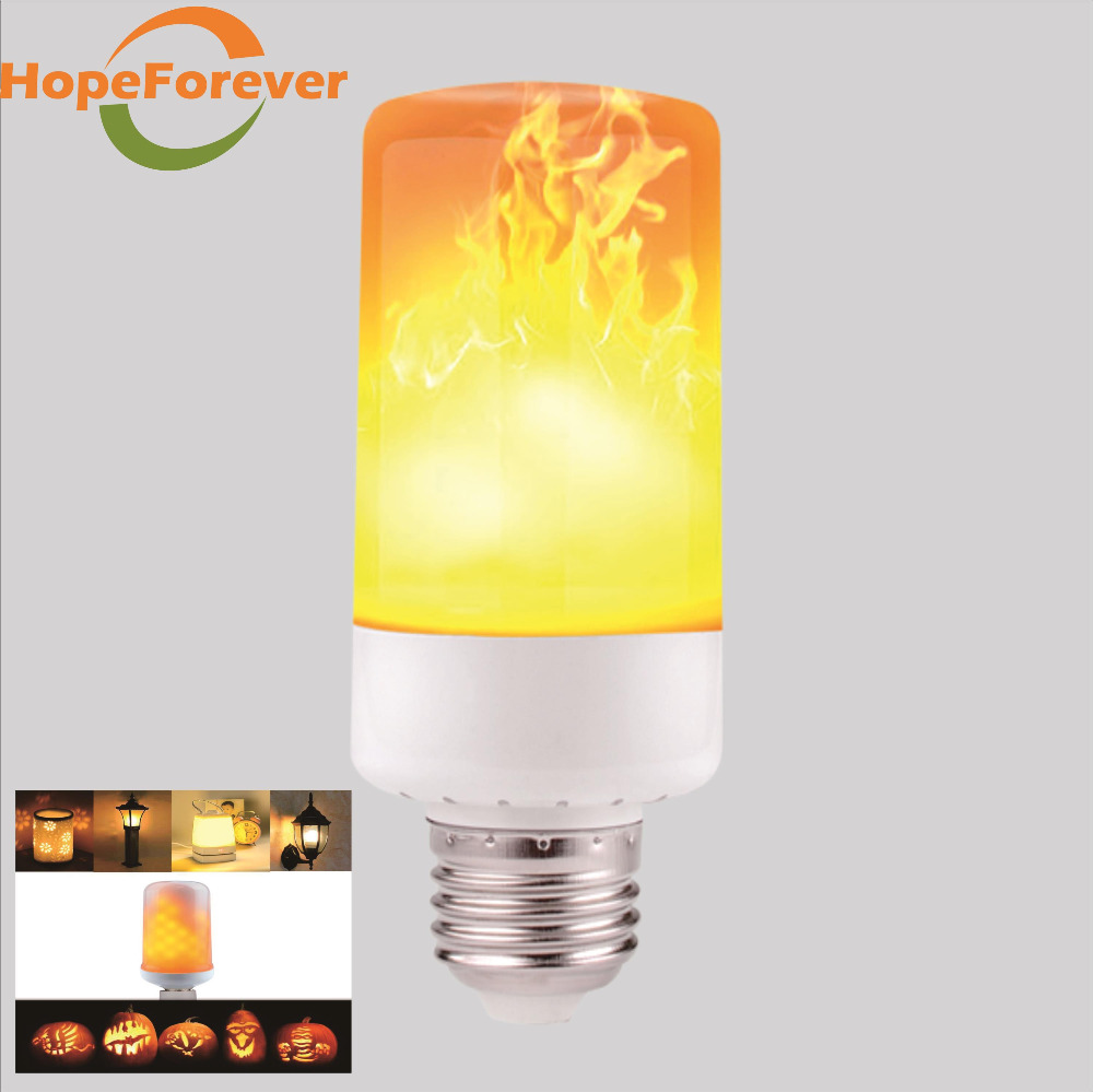 4W LED Flame Effect Fire Light <strong>Bulbs</strong> emulation effect,breathing mode, genernal Flickering <strong>bulb</strong> LED