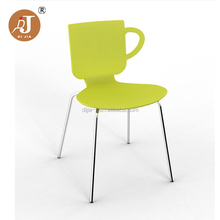 Modern Cafe Cup Back Design Plastic Dining Chair
