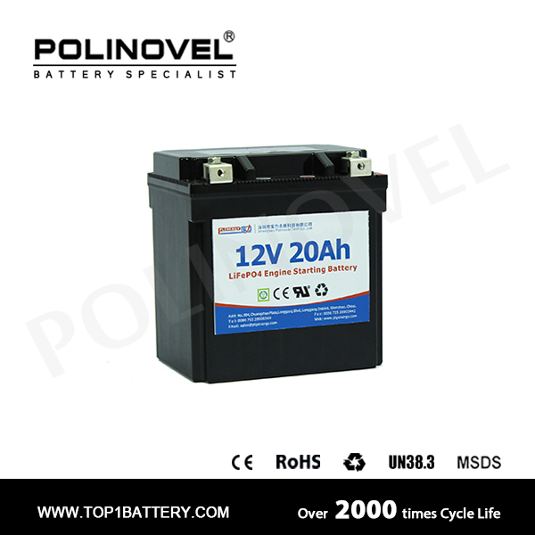 Engine Starting Battery 12V 20Ah Lithium Car Battery