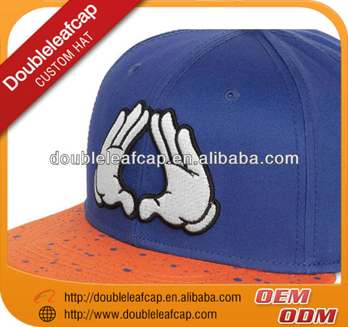 guangzhou factory six panel 100% cotton blank snapback caps without logo