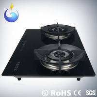 Tempered glass top for cover gas stove with battery ignition