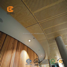 Custom Waterproof Timber Ceiling Designs Noise Reductions Acoustic Panels