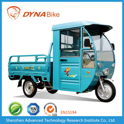 electric cargo tricycle with cabin