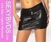 2014 summer women fashion mini leather skirt