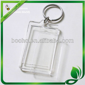 clear insert key fob inner size 30x50mm