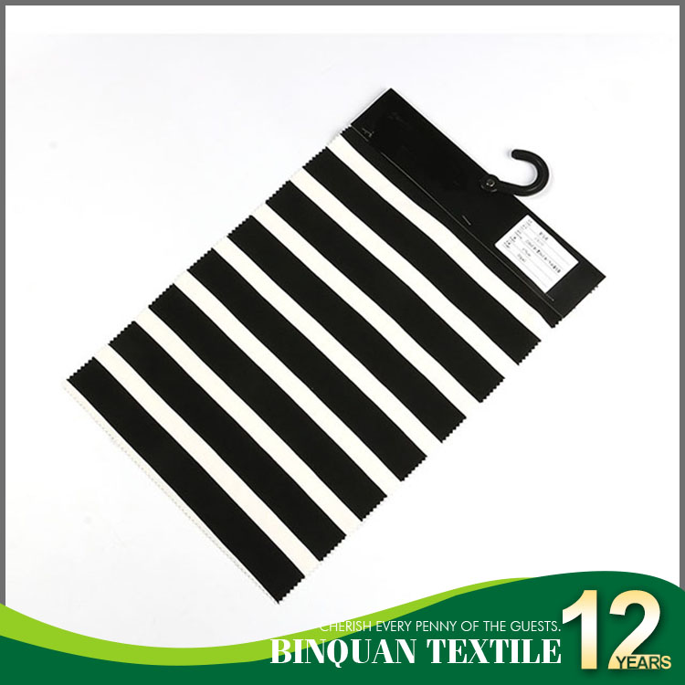 Wholesale 30s N/C spandex knit stripe fabric black and white for garments