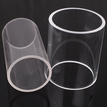 Factory Supply  All Size Quartz Glass Cylinder Pipe Clear Polished quartz Glass Tube