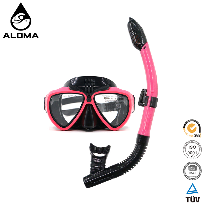 Women underwater camera Silicone diving snorkel mask