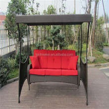 Outdoor garden swing 3 seat hanging swing chair for sale