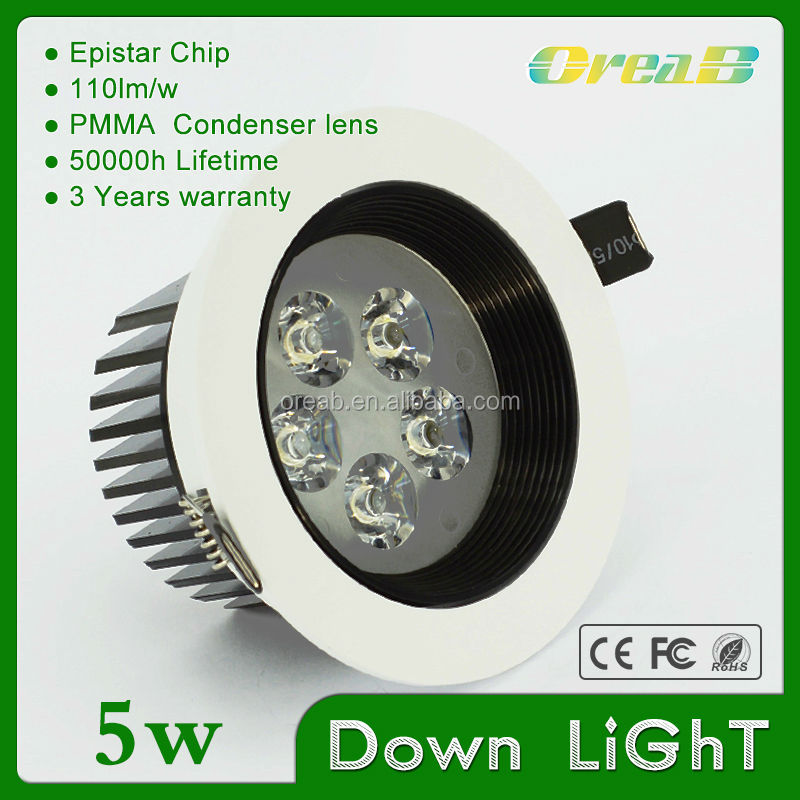 New Model faretti led incasso 5w led ceiling light 5w led downlights