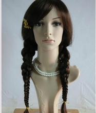 Adult Womens Long Braided Princess Costume braided old fashion wigs