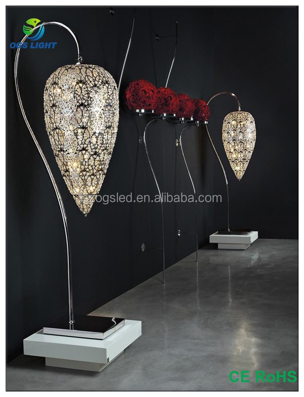 Cristal k9   hierro lámpara moderna escalera de cristal lámpara ...