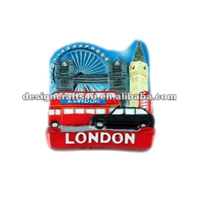 Custom London souvenir ceramic fridge magnet