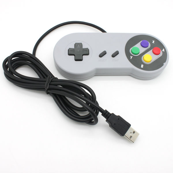 High quality video game wired Classic Controller For SNES/NES game joystick for nintendo nes USB controller