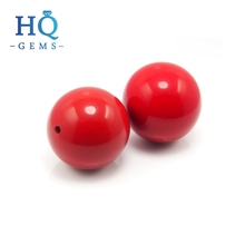 Synthetic 12mm Coral Ball Red Coral