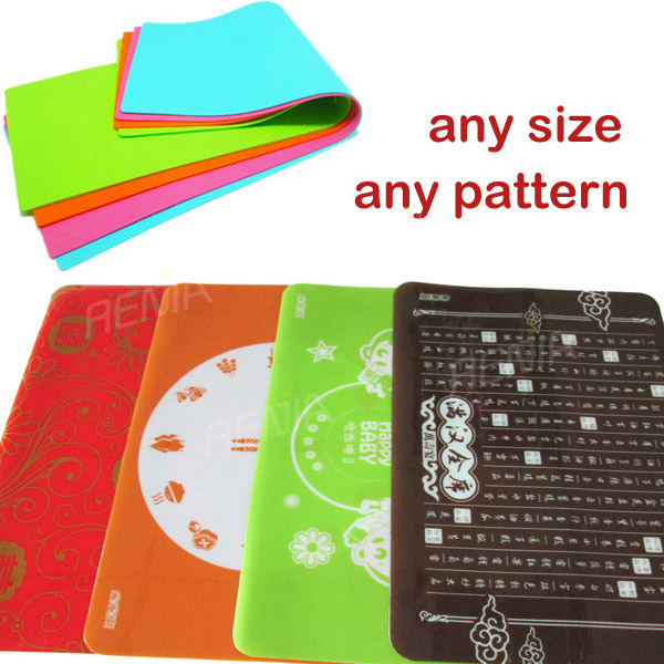 RENJIA kids plastic placemats Kids Mark-Mat Coloring Silicone Placemat kids silicone table mat