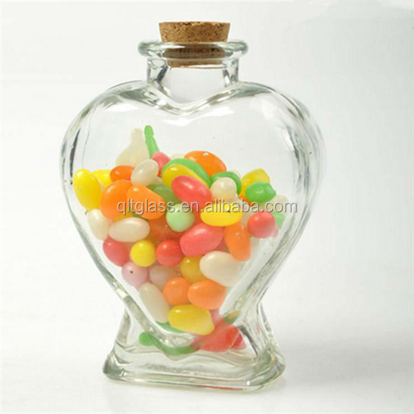 Beautiful clear glass candy jars with lid wholesale chinese supplier