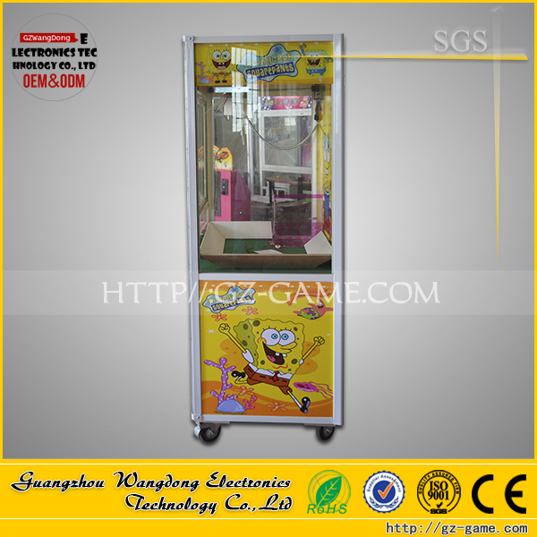 WD-L29 coin operated pusher arcade game crane claw machine for sale