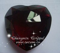 Red heart shaped crystal diamond for wedding gift and decoration favors zs-002