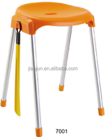 New promotion colorful modern design leisure plastic cover stool bar stool