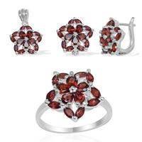 Designer flower pendent set In Top quality garnet gemstone