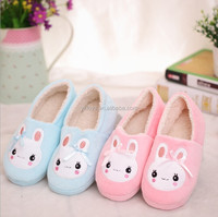 Cute cartoon character of rabbit cotton slippers