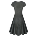 Wholesale Women New Arrival Pure Color Sleeveless V Neck Dress with Plus Size