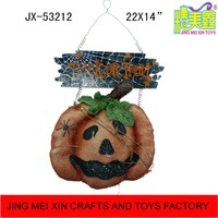 New artificial pumpkin ornament with Trick or Treat board