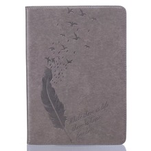best price plume pattern leather tablet case for ipad 5