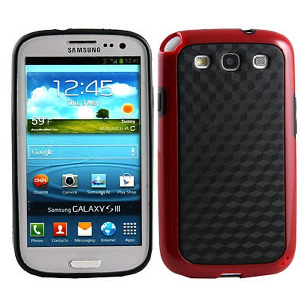 Hybrid Double Color protective tpu case for samsung galaxy s3 III i9300