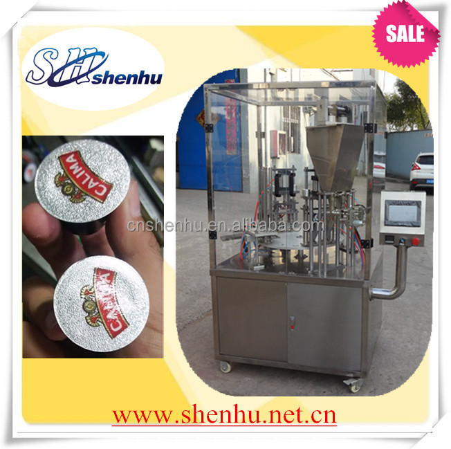nescafe cup filling and sealing machine made in China 008613524508515