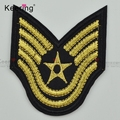Wholesale custom army badge embroidered sew-on patches for costs clothes