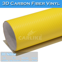 Self Adhesive Vinyl Sticker 3D Carbon Fiber Heat Resistant Car Wrap