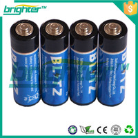 R6 AA UM3 Zinc Carbon Battery