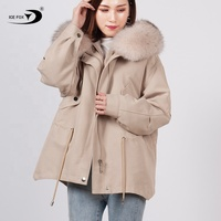 Factory Direct Sales Winter High Quality Fashion Custom Colour Women Coat For Real Fur Lined Parka
