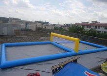 High quality inflatable beach volleyball court, Inflatable Sports Games Water Inflatable Beach Volleyball Court