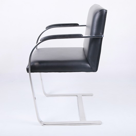 modern replica designer dining furniture leather ludwig mies van der rohe brno chair in best price