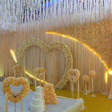 Customized artificial flower wall wedding backdrop