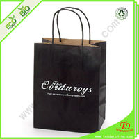 Black Gift Bag Made Of Various Paper Packing Bags Shopping For Clothes