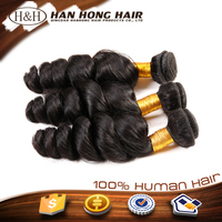 2015 6a Full Cuticle Factory Price Brazilian Tight Curly Hair Extension Ponytail Human Hair Loose Wave Hair