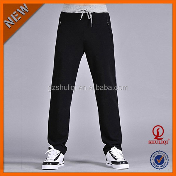 Loose Simple Style Bulk 100% Cotton Lounge Sweat Pants/Custom Top Quality Adult Sexy Mens Cotton Pajama Pants