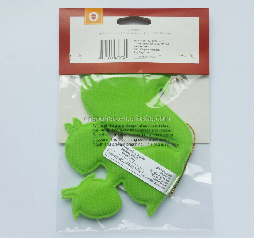 custom DIY puffy felt animal toy for children promotional gifts