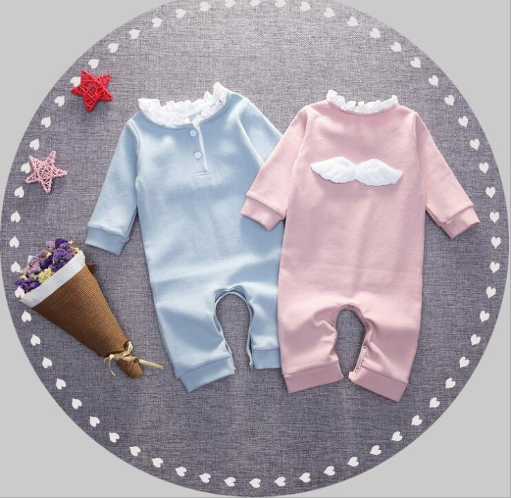 zm10963a autumn 0 - 3 years baby boy rompers wholesale cotton romper baby girls with wing